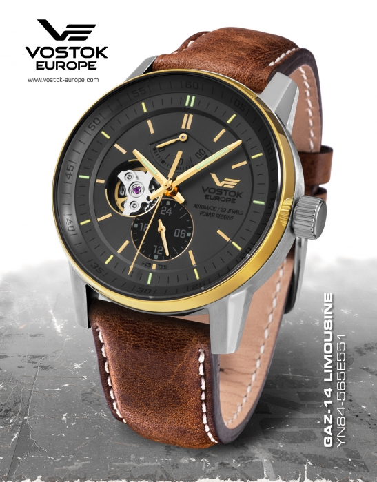 Vostok Europe GAZ-​14 Automatik Power Reserve YN84-​565E551